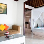Dedari Villa lounge and bedroom view