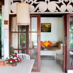 Dedari Villa verandah setting and lounge view